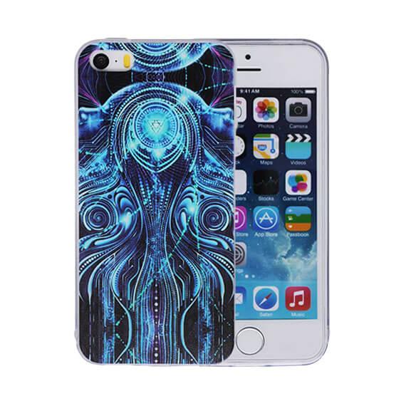 """Силиконовый чехол """"Чакра"""" для Apple iPhone 5/5S/SE (+Заглушка)"""