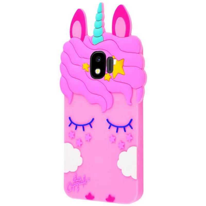 Силиконовая накладка 3D Little Unicorn для Samsung J250F Galaxy J2 Pro (2018)