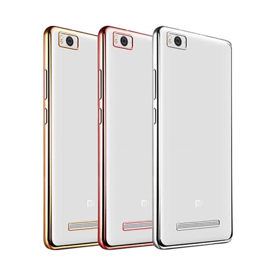 Прозрачный силиконовый чехол для Xiaomi Mi 4i / Mi 4c с глянцевой окантовкой