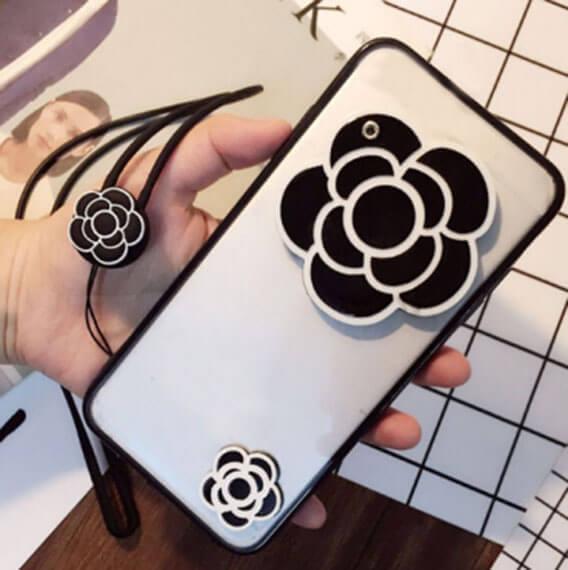 "TPU+PC чехол с зеркалом ""Beauty flower"" для Meizu M3 / M3 mini / M3s"