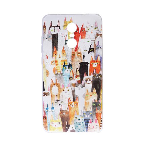 """Тонкий силиконовый чехол """"Кошки"""" с прозрачными краями для Xiaomi Redmi Pro"""