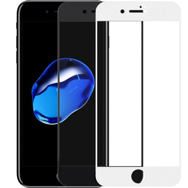 """Защитное стекло 3D 9H (full glue) (без упаковки) для Apple iPhone 7 plus (5.5"""")"""