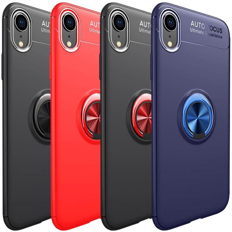 "TPU чехол Deen ColorRing под магнитный держатель (opp) для Apple iPhone XR (6.1"")"
