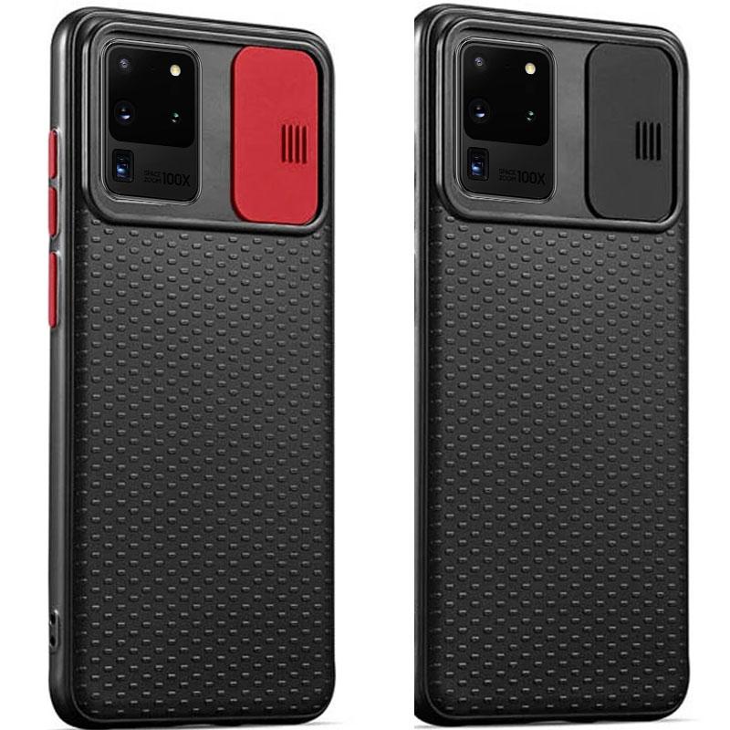 Чехол Camshield Black TPU со шторкой защищающей камеру для Samsung Galaxy S20 Ultra