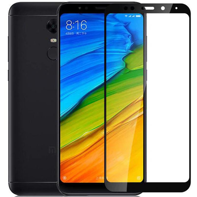 Защитное цветное стекло Mocoson (full glue) на весь экран для Xiaomi Redmi 5 Plus /Redmi Note 5 (SC)