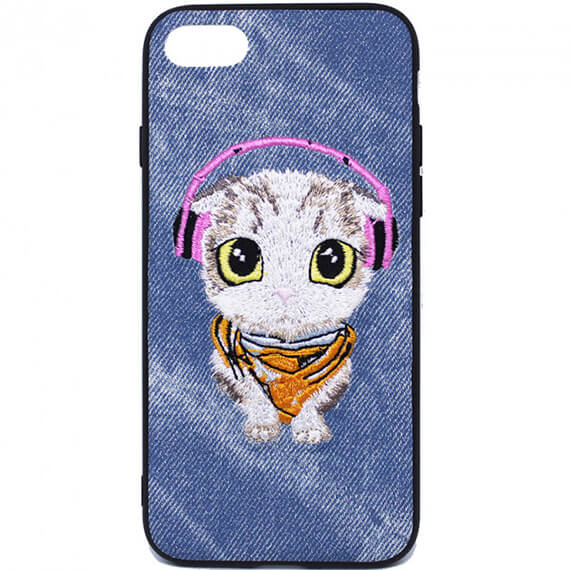 "TPU+PC чехол Embroider Animals Jeans series для Apple iPhone 6/6s (4.7"")"