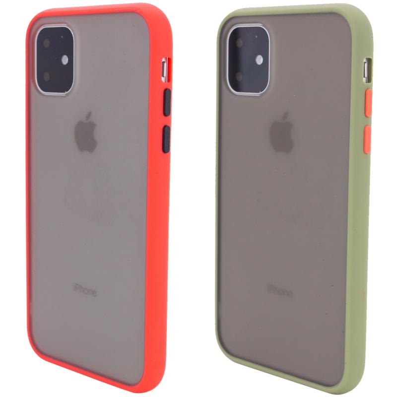 "TPU+PC чехол Color Buttons для Apple iPhone 11 (6.1"")"