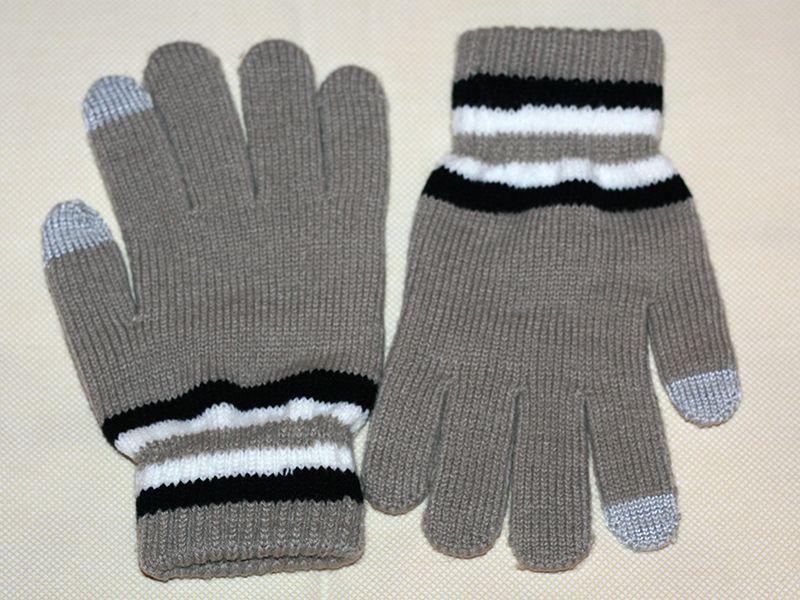 Емкостные перчатки утепленные под кашемир