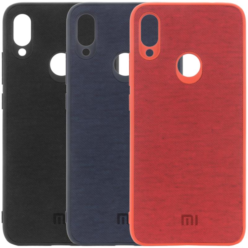 TPU чехол Textile Logo для Xiaomi Redmi Note 7 / Note 7 Pro / Note 7s