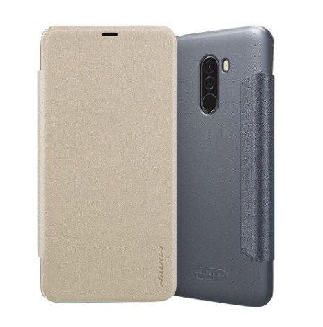 Кожаный чехол (книжка) Nillkin Sparkle Series для Xiaomi Pocophone F1 567a2cc9c8648