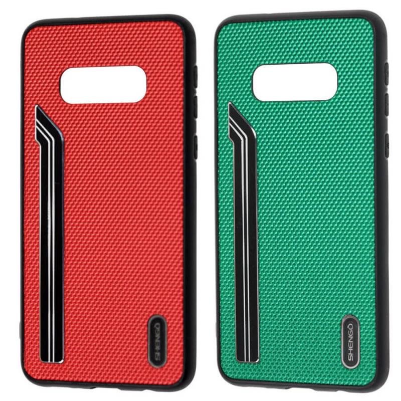 TPU чехол SHENGO Textile series для Samsung Galaxy S10e