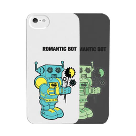 """Светящаяся накладка SleekOn """"Мальчик робот""""/ Romanticbot_M для Apple iPhone 5/5S/SE"""