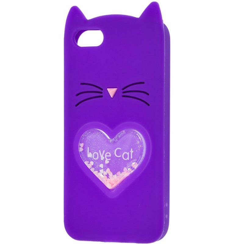 """Силиконовый чехол Love Cat 3D для Apple iPhone 6/6s (4.7"""")"""