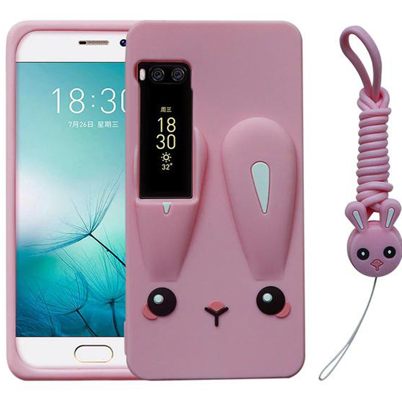 Силиконовая накладка 3D Child Bunny для Meizu Pro 7 Plus