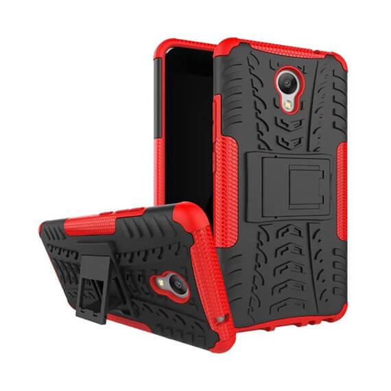 Противоударный двухслойный чехол Shield для Meizu M5 Note с подставкой
