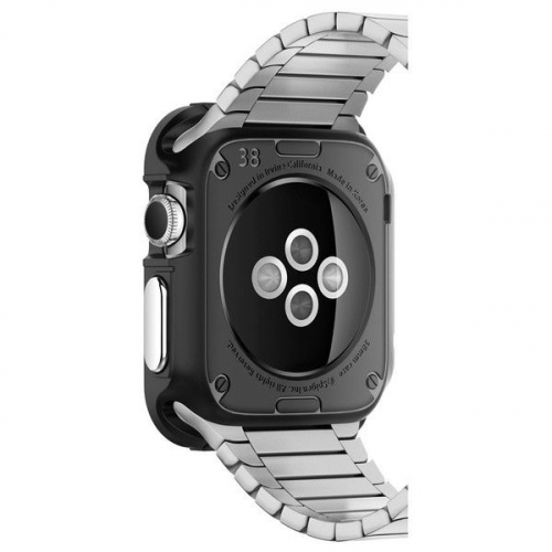 TPU чехол SGP Rugged Armor Series для Apple watch 38mm (+ пленка)