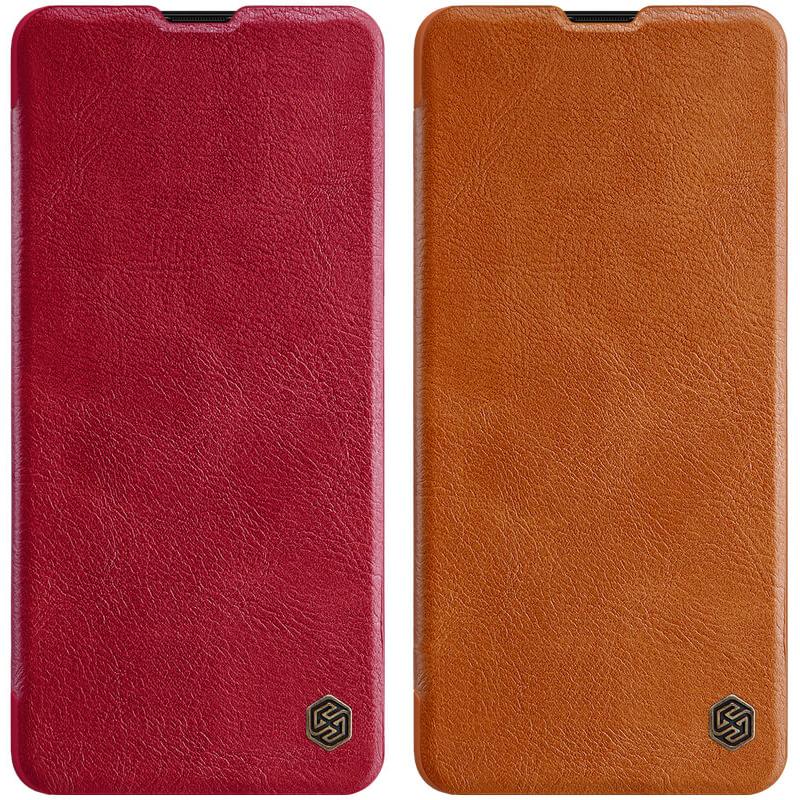 Кожаный чехол (книжка) Nillkin Qin Series для Samsung Galaxy A21s