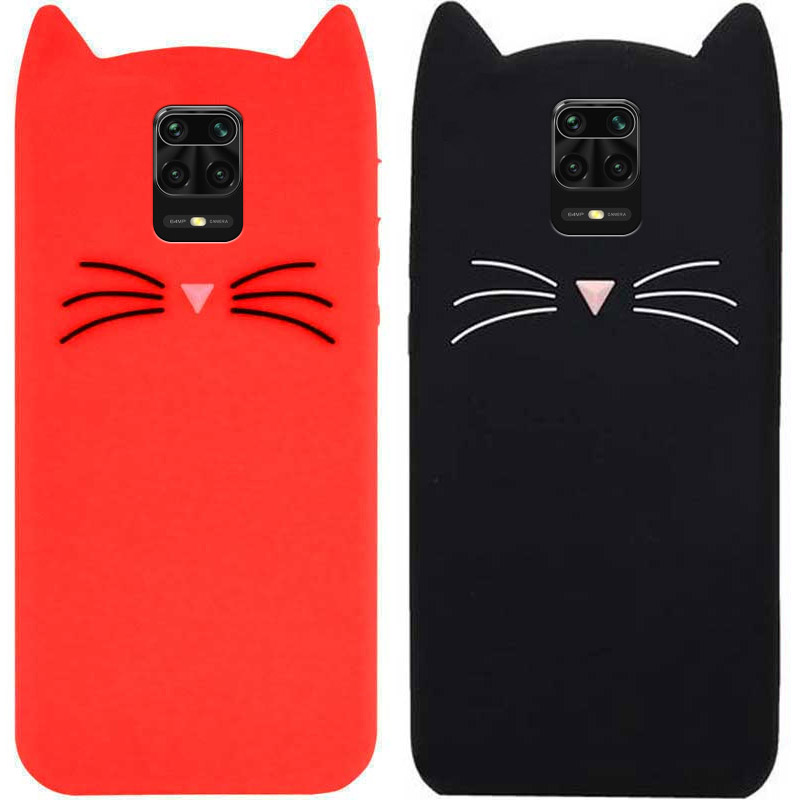 Силиконовая накладка 3D Cat для Xiaomi Redmi Note 9s / Note 9 Pro / Note 9 Pro Max