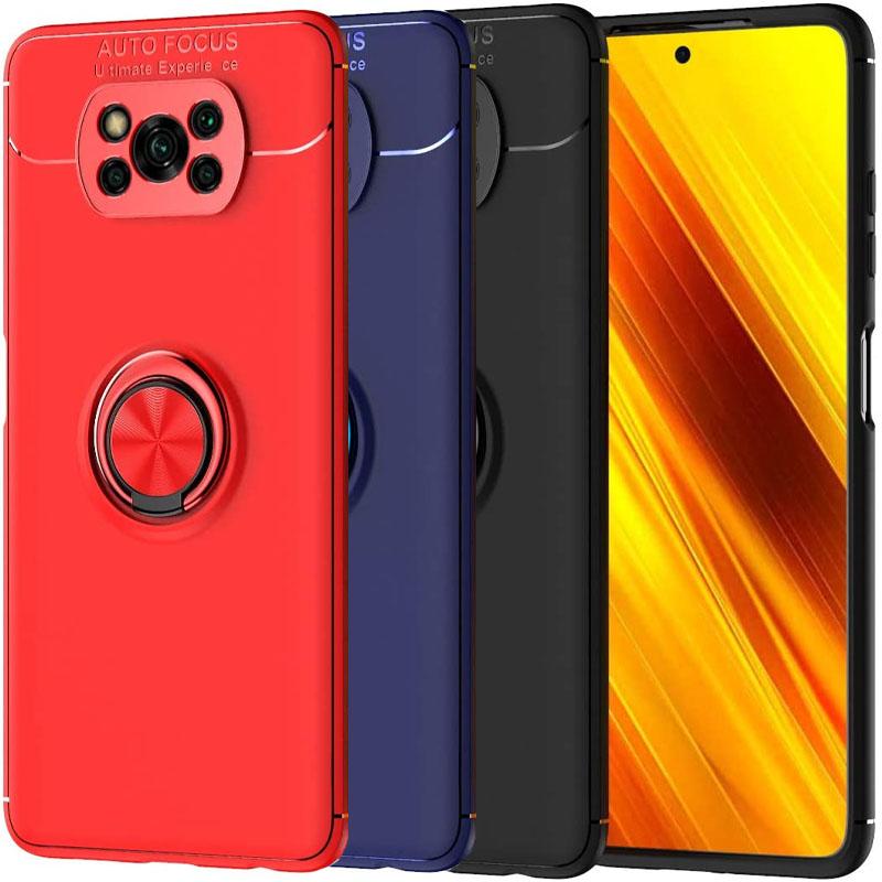 TPU чехол Deen ColorRing под магнитный держатель (opp) для Xiaomi Poco X3 NFC / Poco X3 Pro