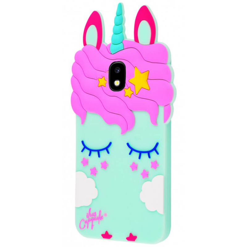 Силиконовая накладка 3D Little Unicorn для Samsung J330 Galaxy J3 (2017)