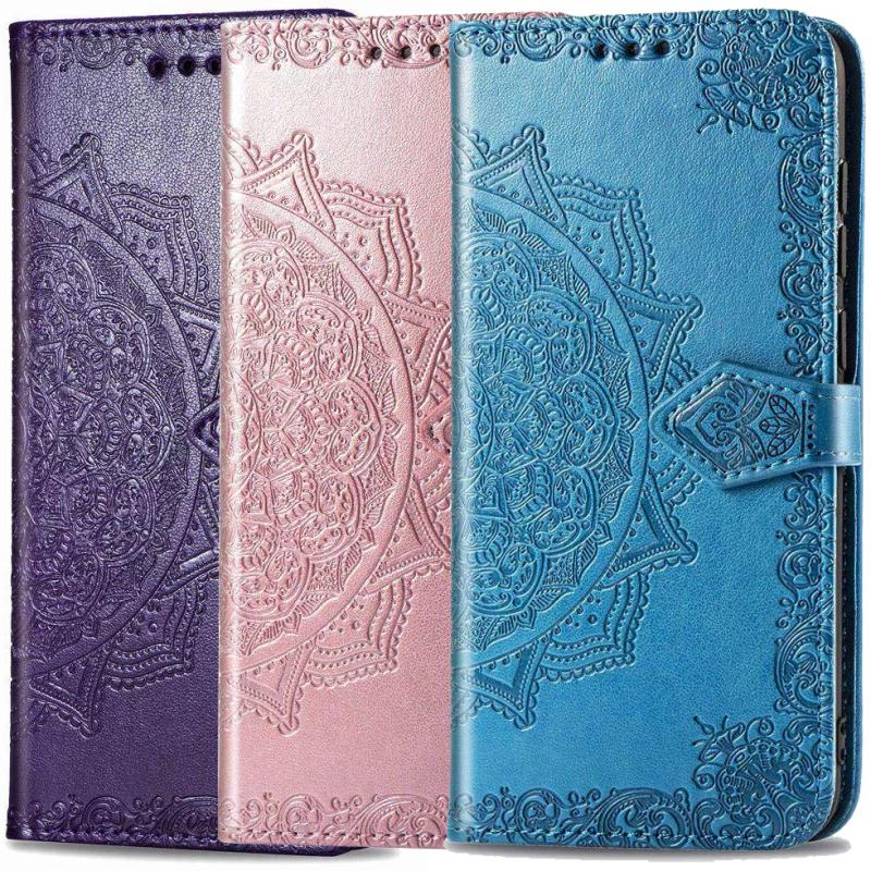 Кожаный чехол (книжка) Art Case с визитницей для Oppo A53
