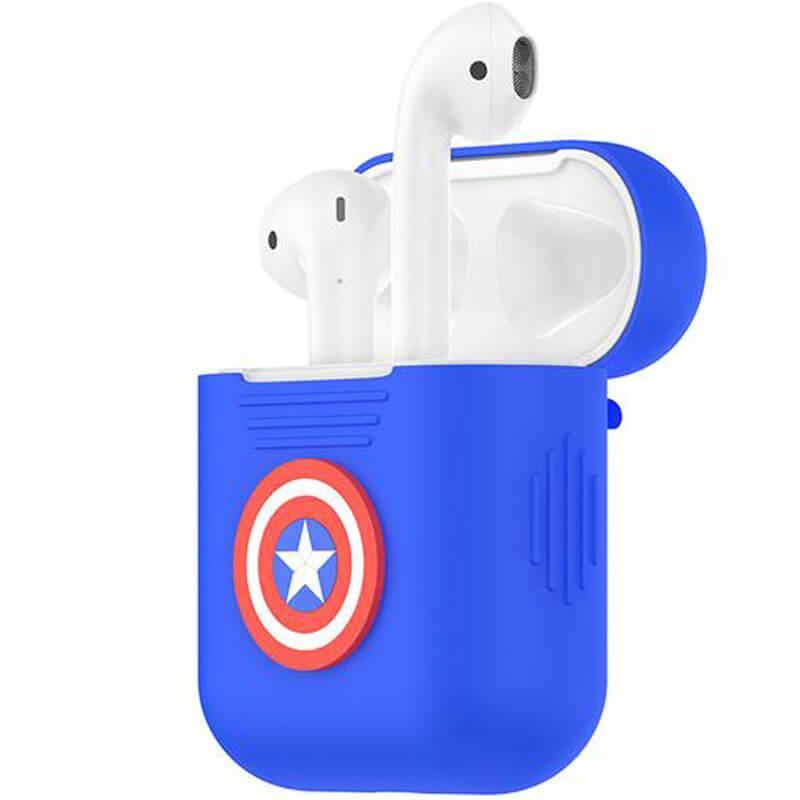 Силиконовый футляр Marvel series для наушников AirPods