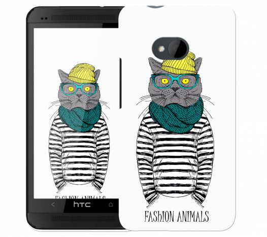 Чехол «Fashion Cat» для HTC One