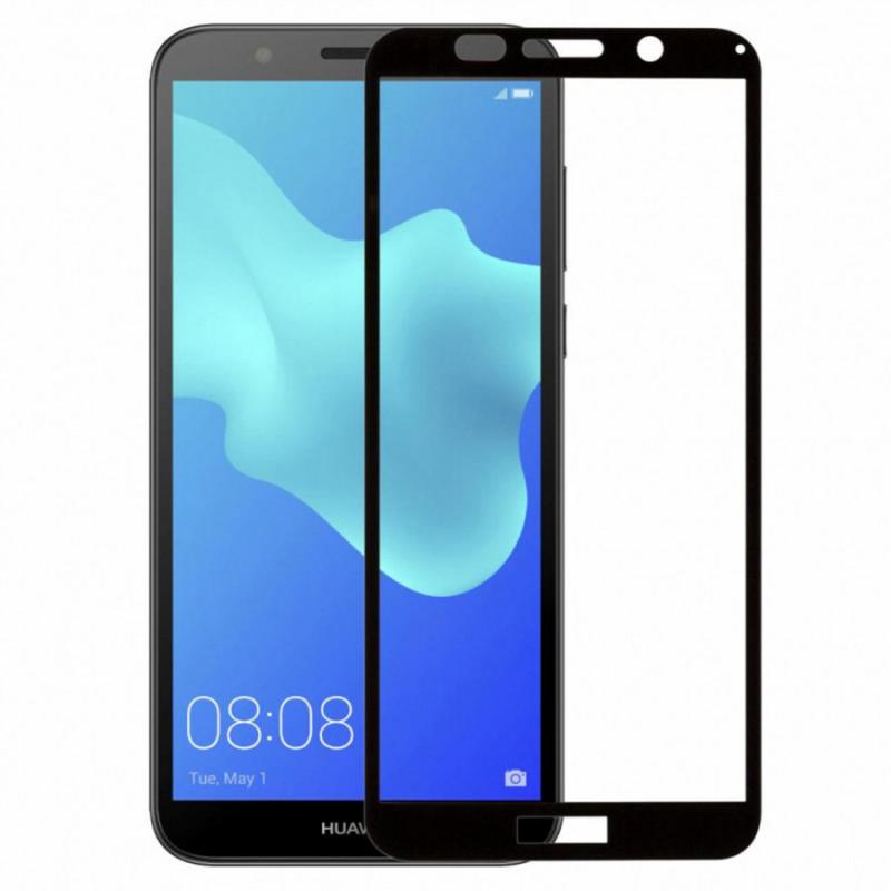 Защитное цветное стекло Mocolo (full glue) на весь экран для Huawei Y5 Lite (2018)
