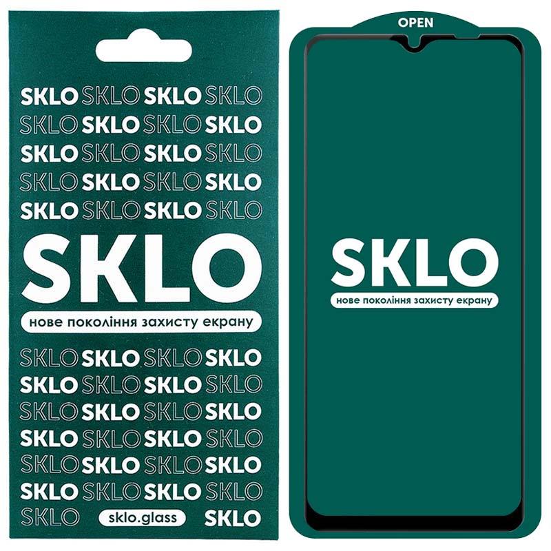 Защитное стекло SKLO 5D (full glue) для Samsung Galaxy A12 / M12 / A02s / M02s / A02 / M02