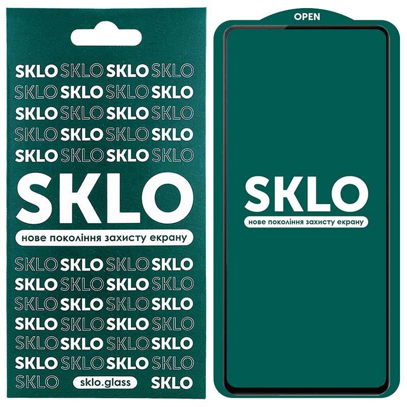 Защитное стекло SKLO 5D (full glue) для Samsung Galaxy A72 5G
