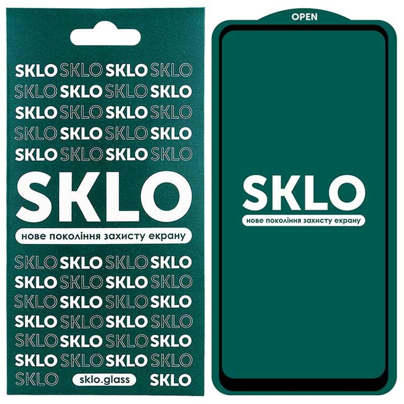 Защитное стекло SKLO 5D (full glue) для Huawei P Smart (2021)