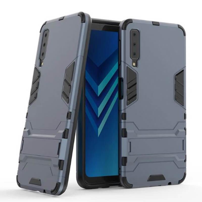 Ударопрочный чехол-подставка Transformer для Samsung A750 Galaxy A7 (2018) с мощной защитой корпуса