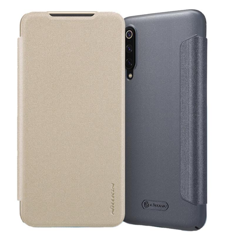 Кожаный чехол (книжка) Nillkin Sparkle Series для Xiaomi Mi 9