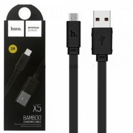 Дата кабель Hoco X5 Bamboo USB to MicroUSB (100см)