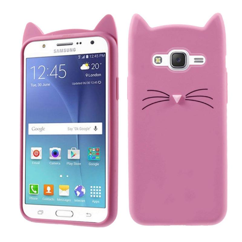 Силиконовая накладка 3D Cat для Samsung J320F Galaxy J3 (2016)