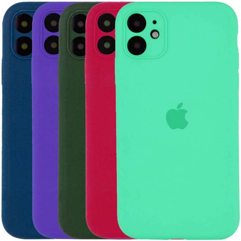 "Чехол Silicone Case Square Full Camera Protective (AA) для Apple iPhone 11 (6.1"")"