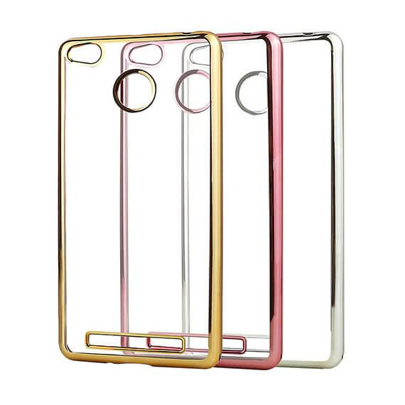 Прозрачный силиконовый чехол для Xiaomi Redmi 3 Pro / Redmi 3s с глянцевой окантовкой