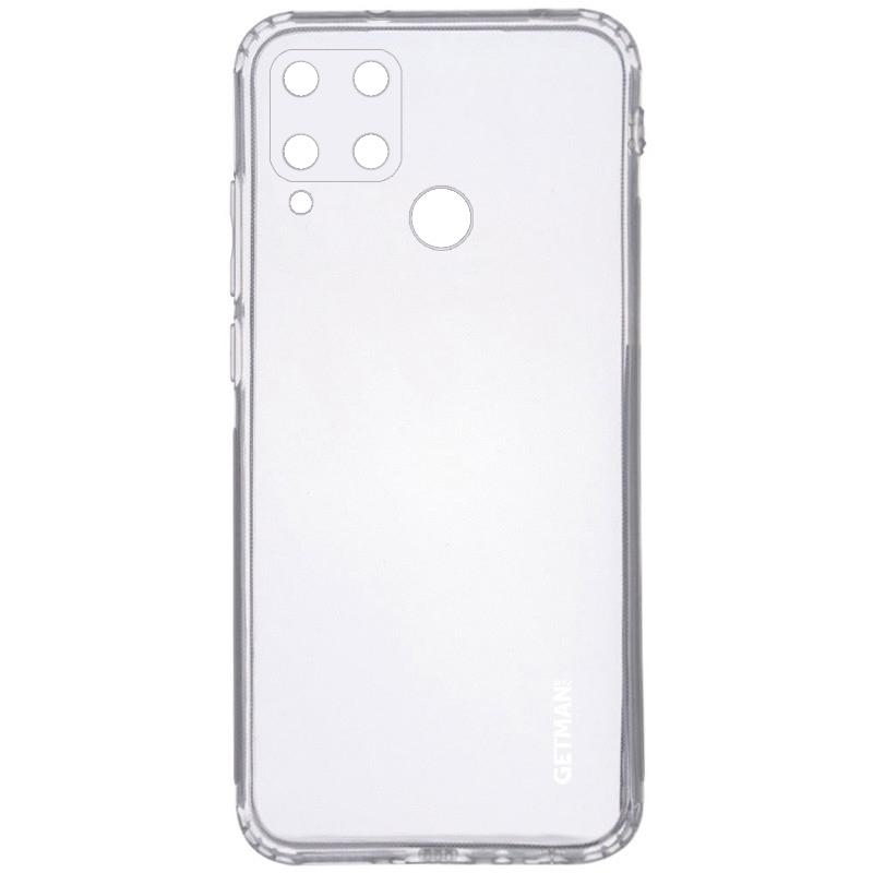 TPU чехол GETMAN Clear 1,0 mm для Realme C15