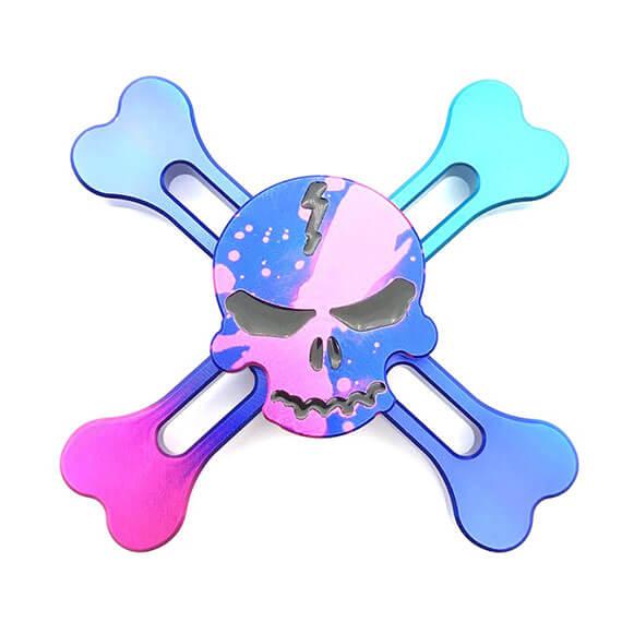 """Спиннер """"Четыре лопасти Skull"""" металлический (антистрессовая игрушка)"""