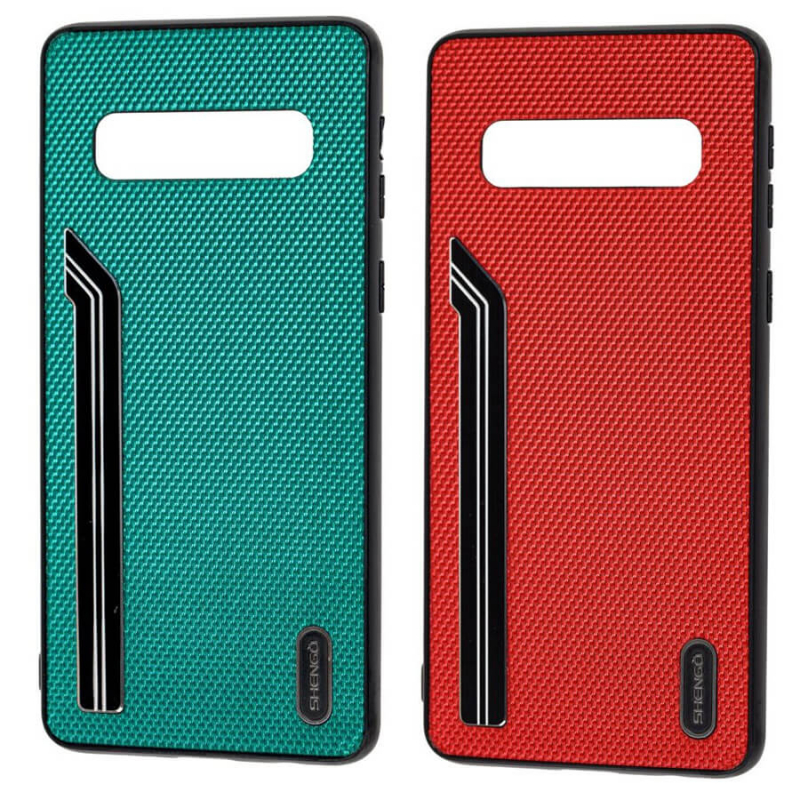 TPU чехол SHENGO Textile series для Samsung Galaxy S10