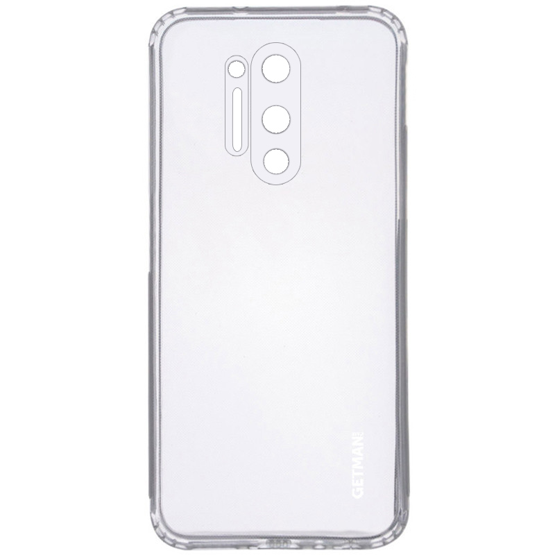 TPU чехол GETMAN Clear 1,0 mm для OnePlus 8 Pro