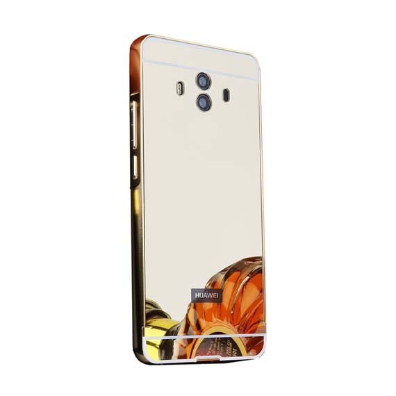 Металлический бампер с акриловой вставкой с зеркальным покрытием для Huawei Mate 10