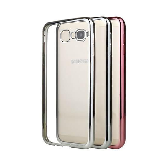 Прозрачный силиконовый чехол для Samsung G570F Galaxy J5 Prime (2016) с глянцевой окантовкой