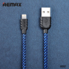 Дата кабель Remax (Nylon) lightning для Apple iPhone 6/6 plus/5/5S/5C/SE