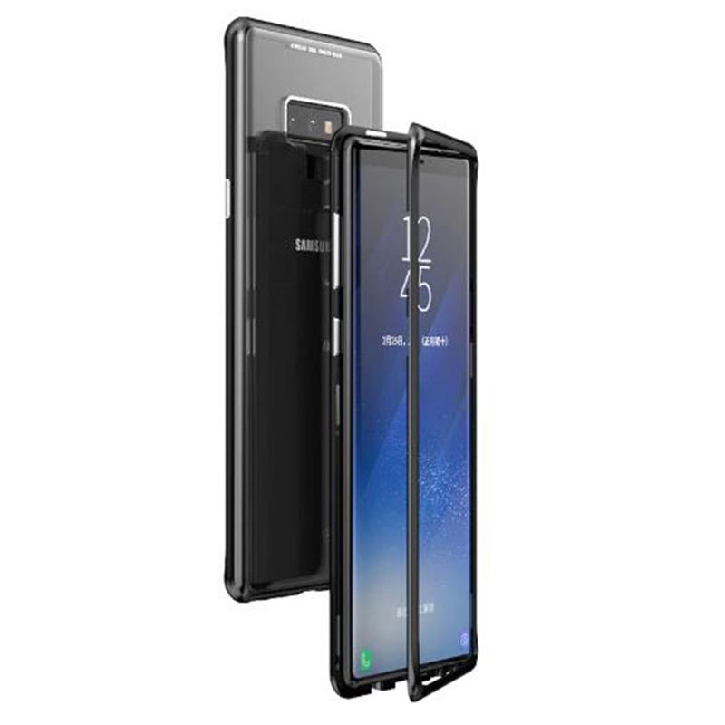 Metal+Glass чехол с магнитной защелкой для Samsung Galaxy Note 9