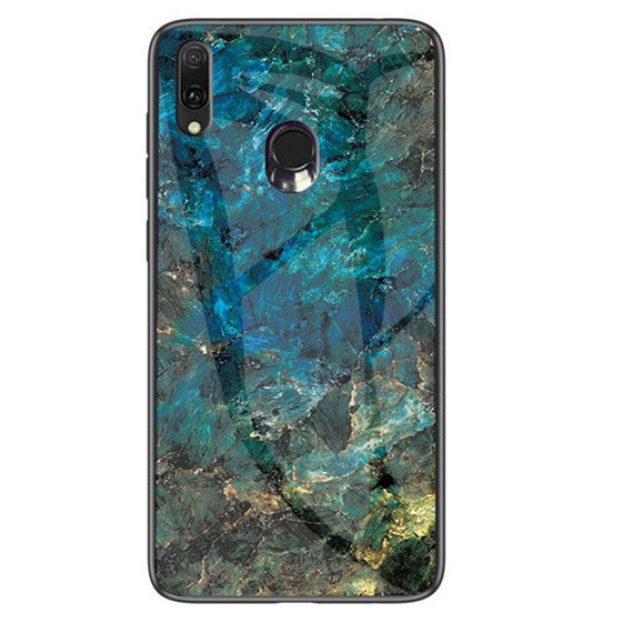TPU+Glass чехол Luxury Marble для Samsung Galaxy M20