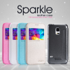 Кожаный чехол (книжка) Nillkin Sparkle Series для Samsung G800H Galaxy S5 mini
