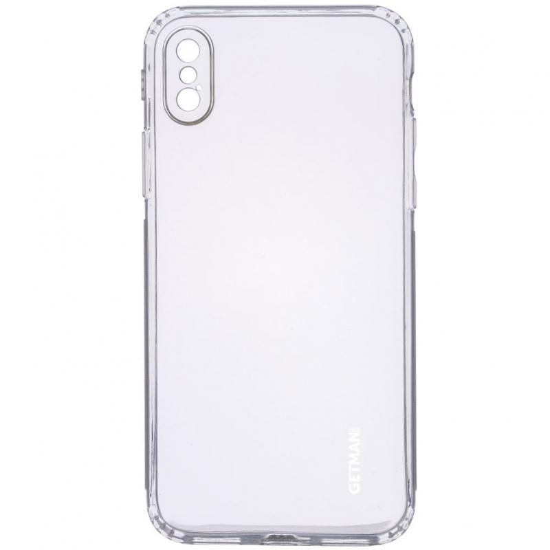 "TPU чехол GETMAN Clear 1,0 mm для Apple iPhone X / XS (5.8"")"