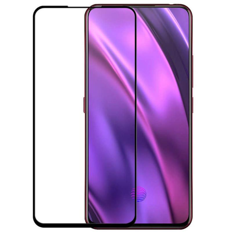 Защитное цветное стекло Mocolo (full glue) на весь экран для Oppo Realme X