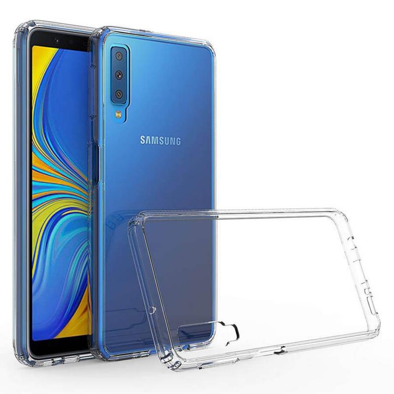 TPU чехол iPaky Clear Series + пленка на камеру со скидкой 50% для Samsung A750 Galaxy A7 (2018)